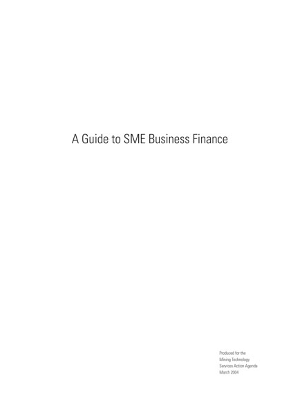 A Guide to SME Business Finance