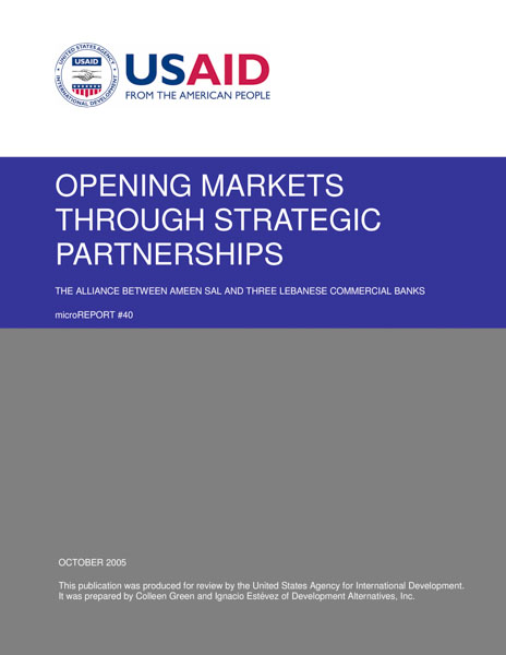 Opening Markets Through Strategic Partnerships: The Alliance Between SAL and Three Lebanese Commercial Banks