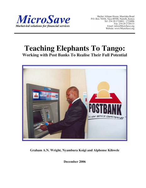 Teaching Elephants to Tango: Working with Post Banks to Realise Their Full Potential
