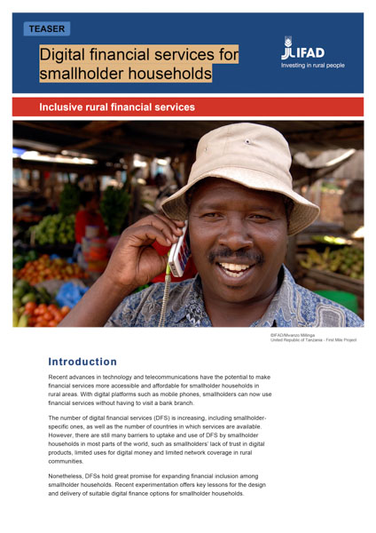 Digital Financial Services for Smallholder Households Toolkit