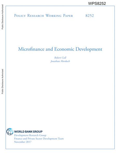 Microfinance and Economic Development