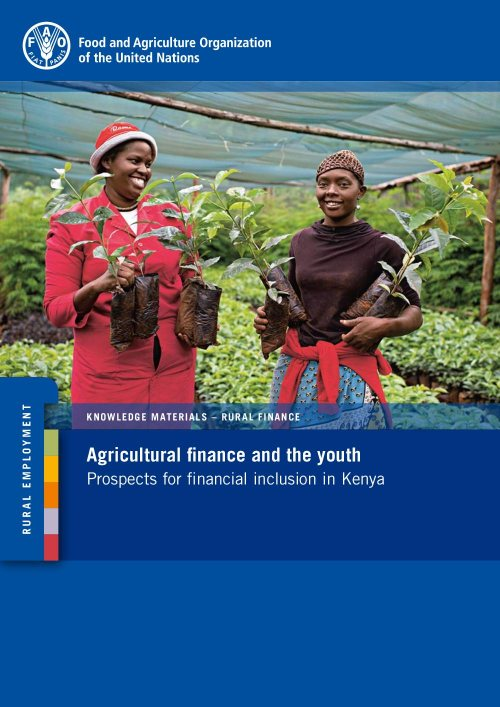 Agricultural finance and the youth: prospects for financial inclusion in Kenya