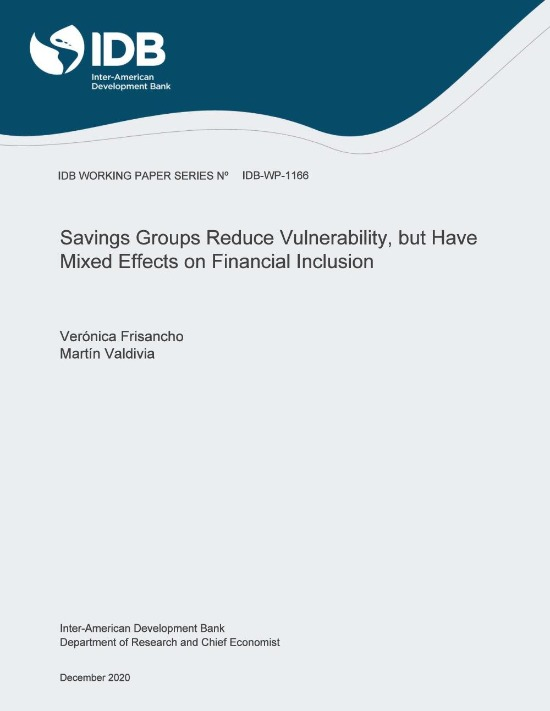 Savings Groups reduce vulnerability, but have mixed effects on Financial Inclusion
