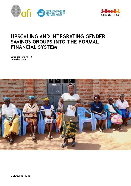Upscaling and Integrating Gender Savings Groups Into the Formal Financial System