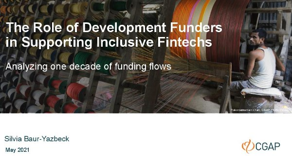 The Role of Development Funders in Supporting Inclusive Fintechs