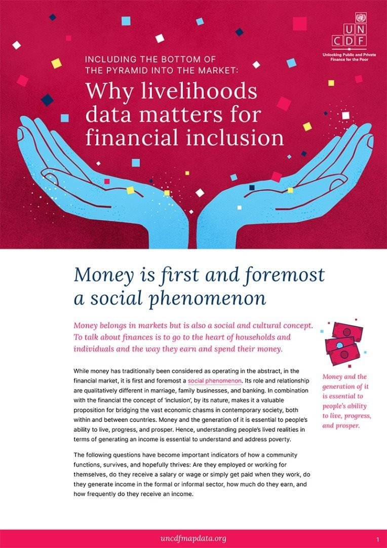 Why livelihoods data matters for financial inclusion